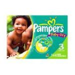 Pampers - Baby Dry Diapers Value Pack Size 3 144 Diapers 28 lb 0037000347934  / UPC 037000347934