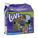 Luvs - Ultra Leakguards Size 4 Jumbo Pack 26229 31 Pack 37 lb, 34 diapers 0037000419365  / UPC 037000419365
