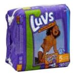 Luvs - Diapers 27 lb, 30 diapers 0037000419372  / UPC 037000419372