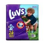 Luvs - Ultra Leakguards With Barney Size 6 Jumbo Pack 26231 23 Pack 35 lb, 26 diapers 0037000419389  / UPC 037000419389