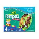 Pampers - Baby Dry Diapers Size 4 37 lb, 34 diapers 0037000420033  / UPC 037000420033