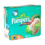 Pampers - Baby Dry Diapers Packaging May Vary 5 30 30 diapers 0037000420071  / UPC 037000420071