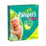 Pampers - Baby-dry Diapers Size 1 Mega Pack 84 Diapers 14 lb, 84 diapers 0037000420200  / UPC 037000420200