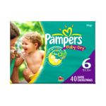 Pampers - Baby Dry Diapers Size 6 40 diapers 0037000420262  / UPC 037000420262