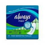 Always - Maxi Pads Super Non-wing Unscented 12 pack 0037000425212  / UPC 037000425212