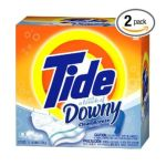 Tide - Tide With A Touch Of Downy Powder Detergent Clean Breeze Scent Case Pack Two 95 Load Boxes 190 Loads 0037000467588  / UPC 037000467588