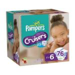 Pampers - Cruisers Diapers Value Pack Size 6 76 diapers 0037000508205  / UPC 037000508205