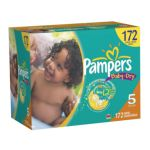 Pampers - Baby Dry Size 5 Baby Diapers Economy Pack Plus Cheap 40 lb 0037000512691  / UPC 037000512691