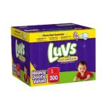 Luvs - Premium Stretch Diapers With Ultra Leakguards 1 300 14 lb 0037000525905  / UPC 037000525905
