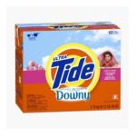 Tide - Plus A Touch Of Downy Powder Laundry Detergent April Fresh Scent 53 Loads 0037000815266  / UPC 037000815266