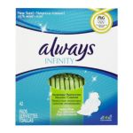 Always - Infinity Heavy Flow With Wings Unscented Pads 42 0037000816607  / UPC 037000816607
