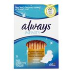 Always - Infinity Overnight With Wings Unscented Pads 0037000816614  / UPC 037000816614
