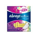 Always - Totally Teent Radiantt Infinity Pads 0037000839040  / UPC 037000839040