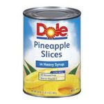 Dole - Pineapple Slices In Heavy Syrup 0038900001025  / UPC 038900001025