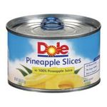 Dole - Pineapple Slices In Juice Cans 0038900001391  / UPC 038900001391