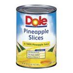 Dole - Pineapple Slices In 100% Pineapple Juice 0038900001438  / UPC 038900001438