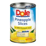 Dole - Pineapple Slices In 100% Pineapple Juice 107 0038900002558  / UPC 038900002558