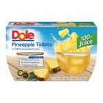 Dole - Pineapple Tidbits In 100% Fruit Juice 0038900004071  / UPC 038900004071