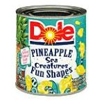 Dole - Cosmic Fun Shapes Pineapple Pieces In Lightly Sweetened Pineapple Syrup 0038900004514  / UPC 038900004514