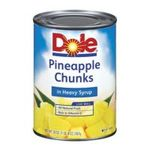 Dole - Pineapple Chunks In Heavy Syrup 0038900004620  / UPC 038900004620