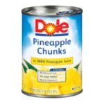 Dole - Pineapple Chunks In 100% Pineapple Juice 0038900004682  / UPC 038900004682