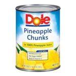 Dole - Pineapple Chunks In 100% Pineapple Juice 0038900004736  / UPC 038900004736
