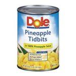 Dole - Pineapple Tidbits In 100% Pineapple Juice 0038900005139  / UPC 038900005139