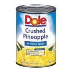 Dole - Crushed Pineapple In Heavy Syrup 0038900006020  / UPC 038900006020