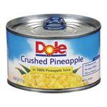 Dole - Crushed Pineapple 0038900006198  / UPC 038900006198
