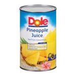 Dole - Juice Pineapple 0038900008185  / UPC 038900008185