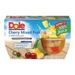 Dole - Cherry Mixed Fruit In 100% Fruit Juice 0038900020606  / UPC 038900020606