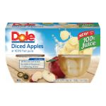 Dole - Diced Apples Fruit Bowl In Light Syrup 4 Cups 0038900020705  / UPC 038900020705