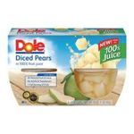 Dole - Diced Pears In Light Syrup 0038900029005  / UPC 038900029005