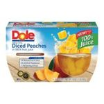 Dole - Yellow Cling Diced Peaches In 100% Fruit Juice 0038900029708  / UPC 038900029708