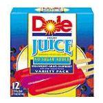 Dole - Frozen Juice Bars Assorted Flavors 0038900046392  / UPC 038900046392