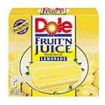 Dole - Fruit 'n Juice Bars 6 each 0038900046828  / UPC 038900046828