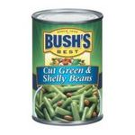 Bush's best - Cut Green And Shelly Beans 0039400010142  / UPC 039400010142