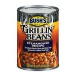 Bush's best - Grillin' Beans - Steakhouse Recipe 0039400019169  / UPC 039400019169