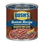 Bush's best - Baked Beans - Boston Recipe Baked Beans 0039400019541  / UPC 039400019541