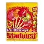 Starburst - Fruit Chew Pops 0040000015482  / UPC 040000015482