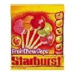 Starburst - Fruit Chew Pops 0040000059486  / UPC 040000059486