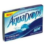 Aquadrops -  Hydrating Mints 2 - 12 piece packs 0040000161165