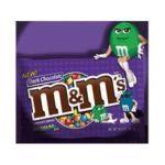 M&M's - M And M S Dark Chocolates Candies Singles 0040000214632  / UPC 040000214632