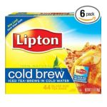 Lipton - Black Tea Cold Brew Glass Size Tea Bags 0041000002670  / UPC 041000002670