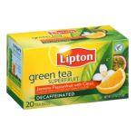 Lipton - Green Superfruit Decaf Tea Bags Jasmine Passionfruit With Citrus 0041000270512  / UPC 041000270512