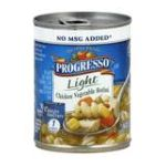 Progresso - Light Chicken Vegetable Rotini Soup 0041196404845  / UPC 041196404845