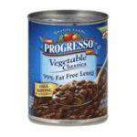 Progresso - Vegetable Classics 99% Fat Free Lentil Soup 0041196911817  / UPC 041196911817