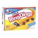 Drake's -  Mini Ring Dings Devil's Food Cakes 40 cakes 0041261250070