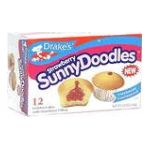 Drake's -  Sunny Doodles Golden Cakes Strawberry 12 cakes 0041261252753