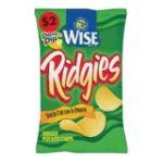 Wise -  Ridgies Sour Cream & Onion Potato Chips 0041262284333
